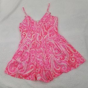 Lilly Pulitzer Romper 2 Kyla Slip Dress Pink Short